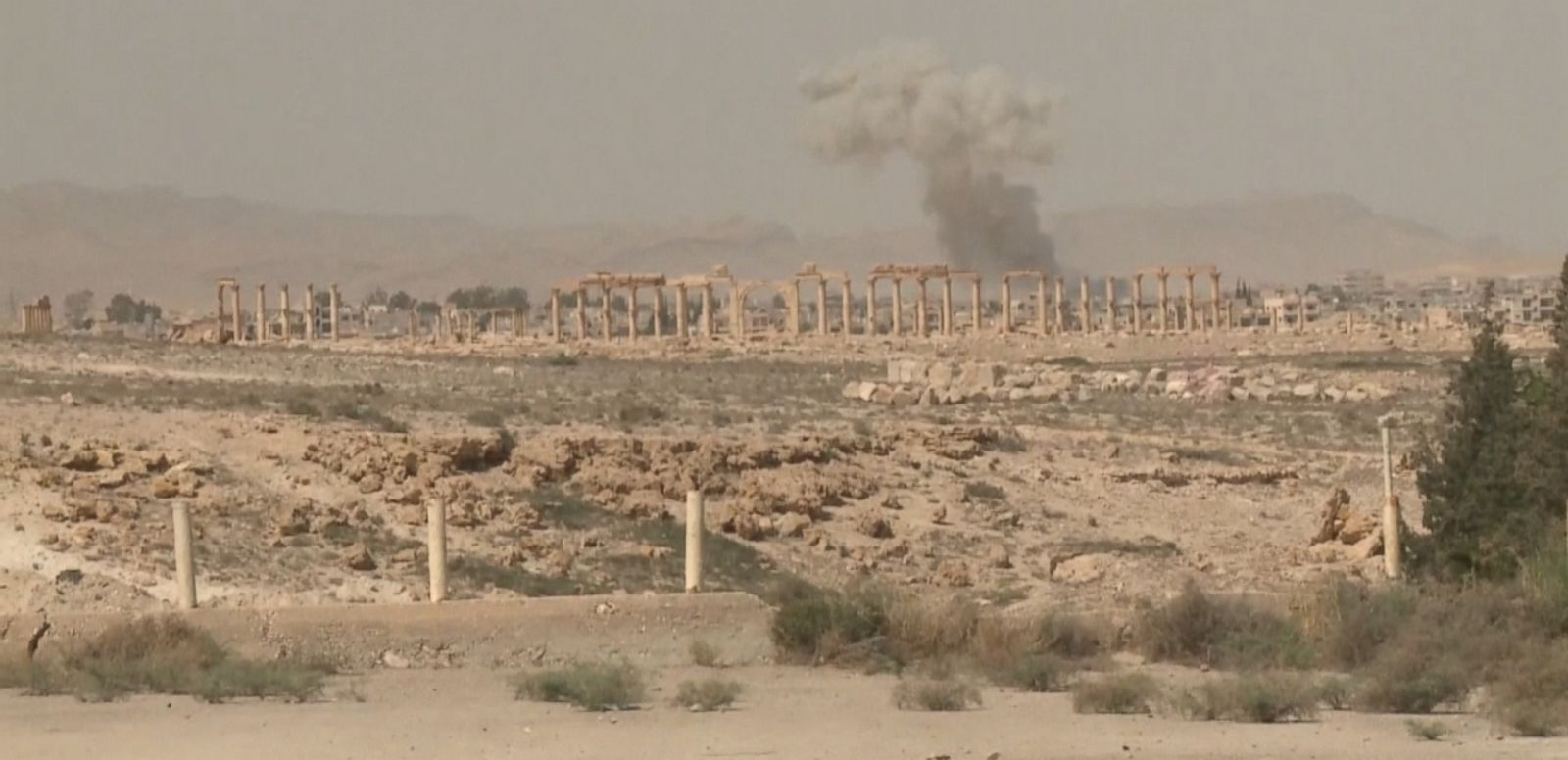 VIDEO: An arch in the ancient city of Palmyra is the latest architectural casualty.