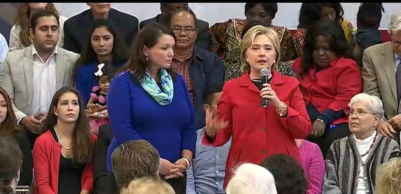 VIDEO: During a campaign event in New Hampshire on Monday, Clinton invited the mother of a 6-year-old boy killed in the Sandy Hook shooting to join her on stage to discuss gun control.