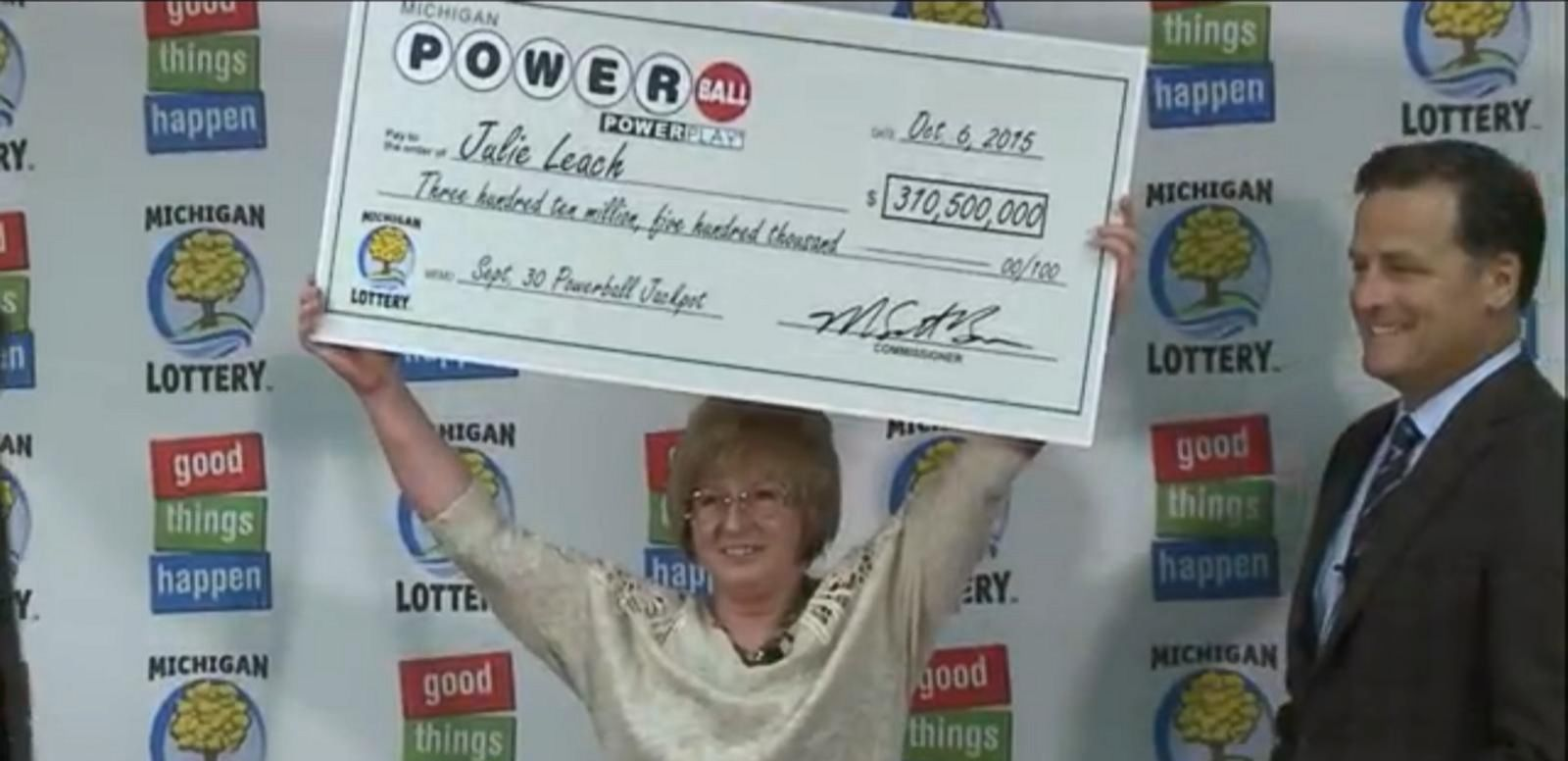 VIDEO: Julie Leach, 50, won the second-largest prize in Michigan history.