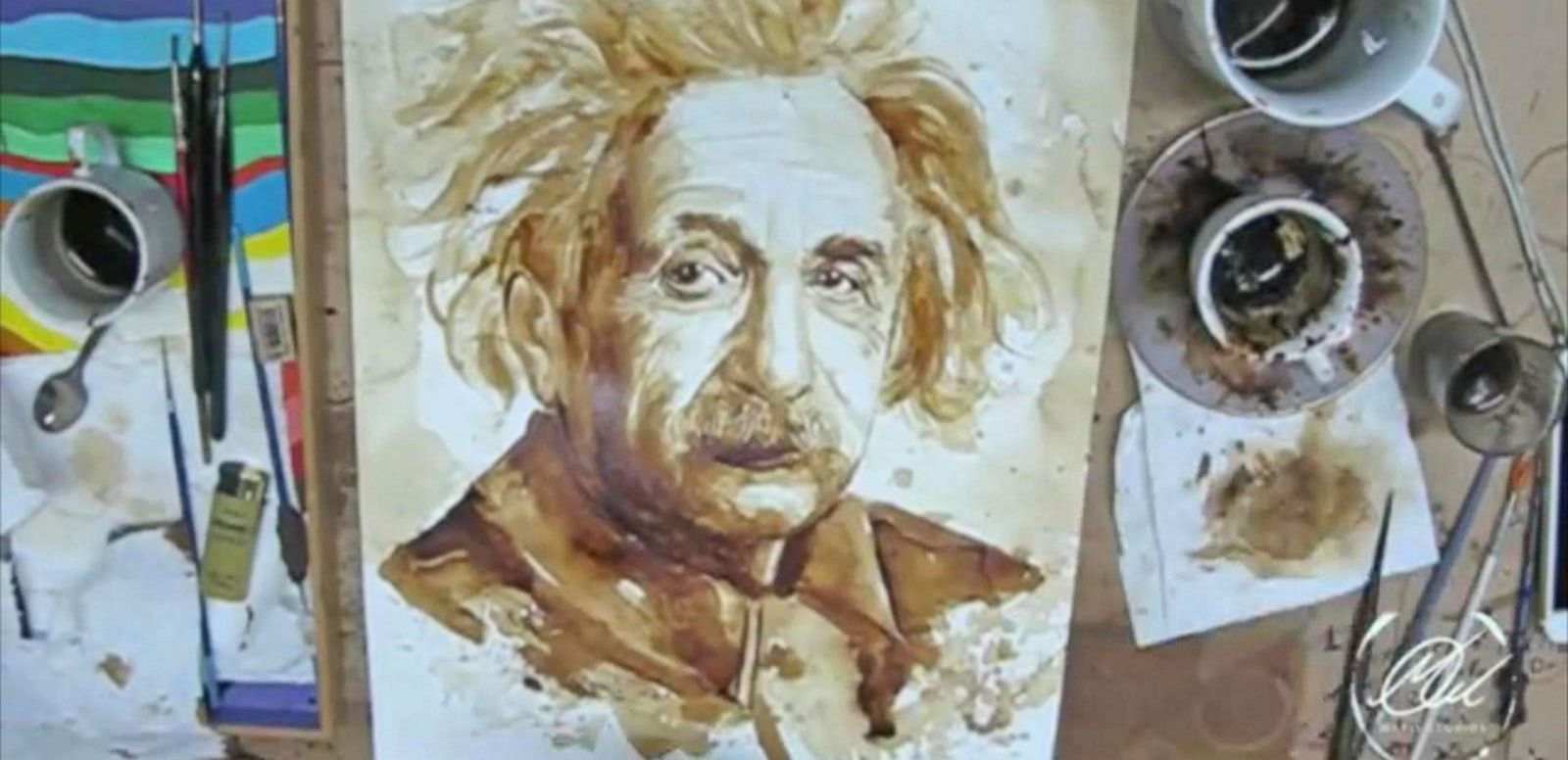 VIDEO: Artist Creates a 'Stir' With Coffee Paintings