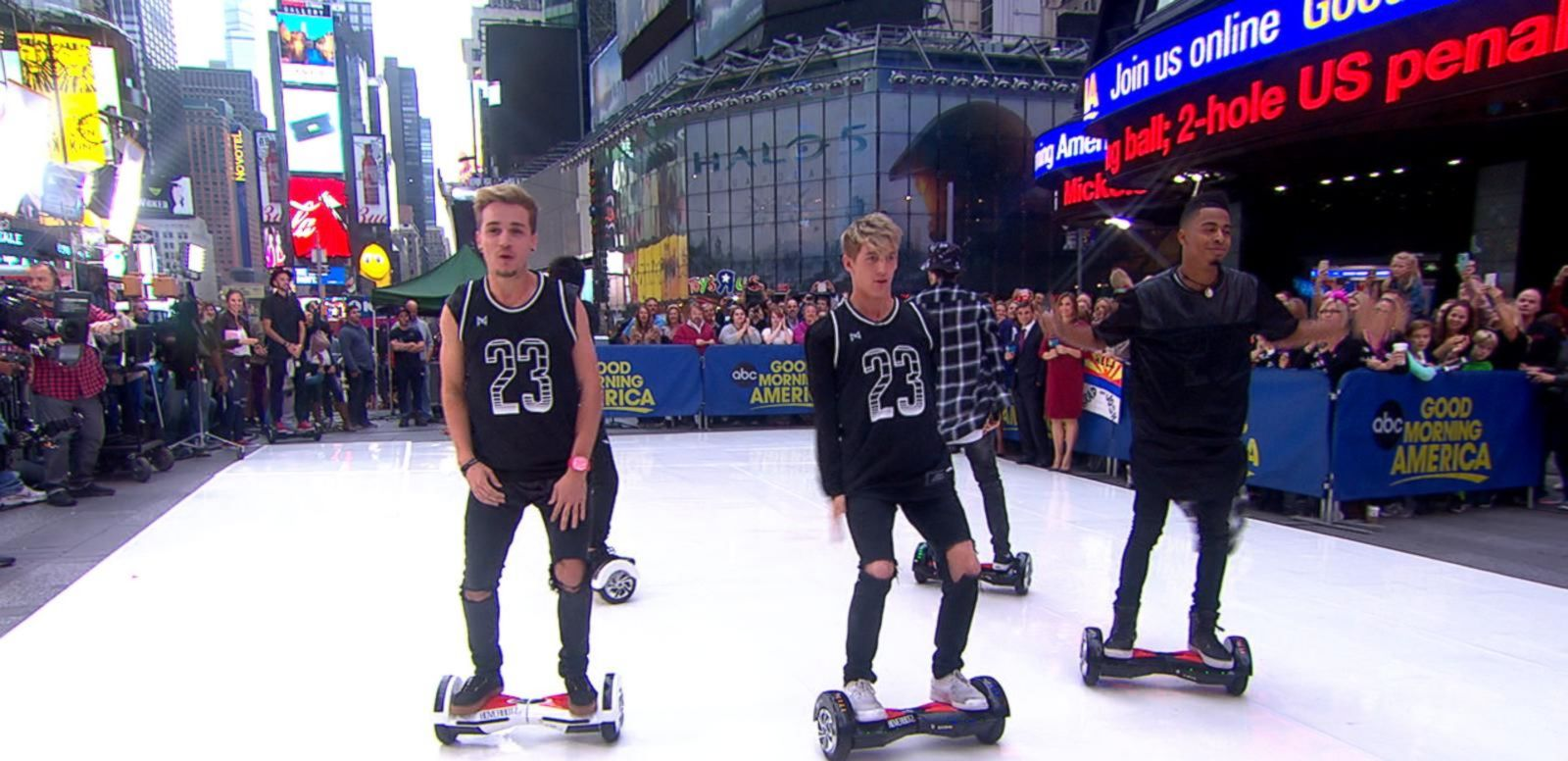 VIDEO: 'Bot Bros' Incredible Live Hoverboard Performance