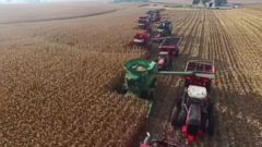 VIDEO: Volunteers helped harvest all 450 acres of Carl Bates corn crop in Galva, Illinois after they learned of his terminal cancer diagnosis.