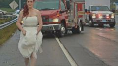 VIDEO: Sarah Ray responded to the scene of the accident in her wedding dress when she heard family members were hurt in the crash.