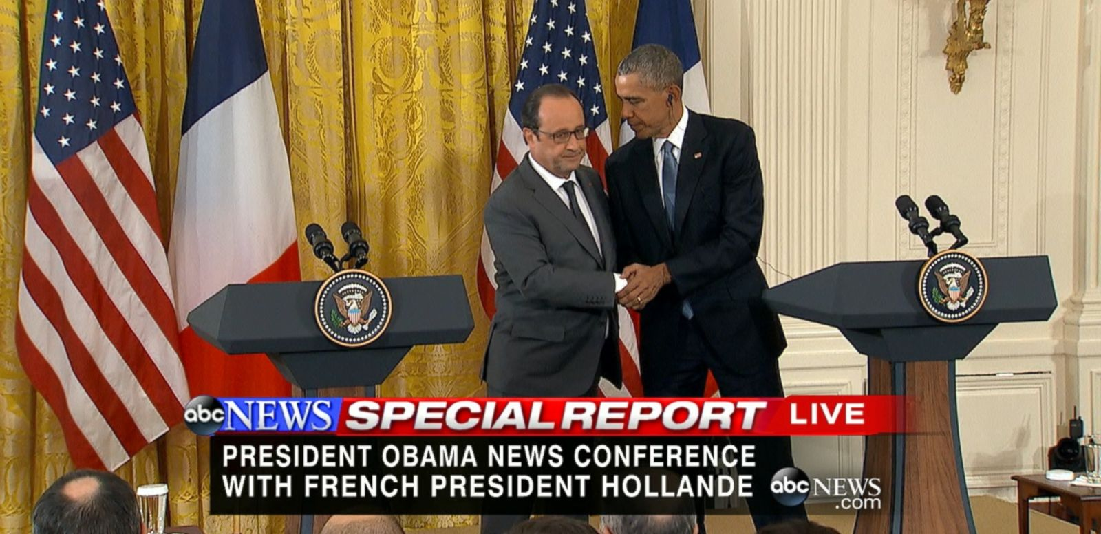 VIDEO: The president did not announce any major shifts in strategy in light of the deadly terrorist attack in Paris.
