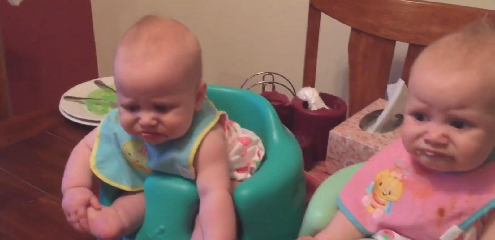 VIDEO: Twin Babies Try Turkey For The First Time