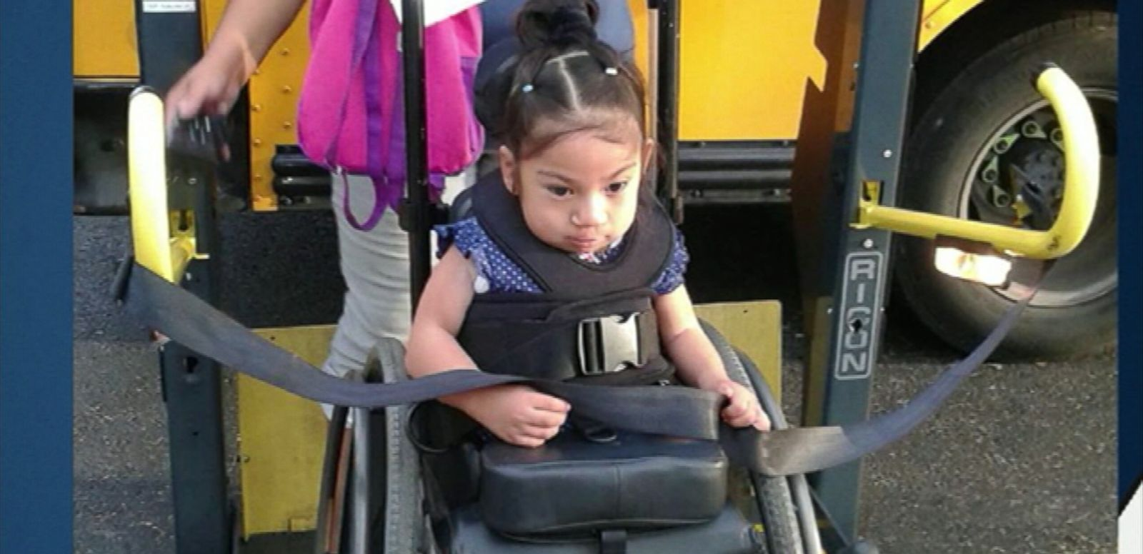 VIDEO: Milagros Perez's customized wheelchair was stolen from outside her home in Santa Ana, California.