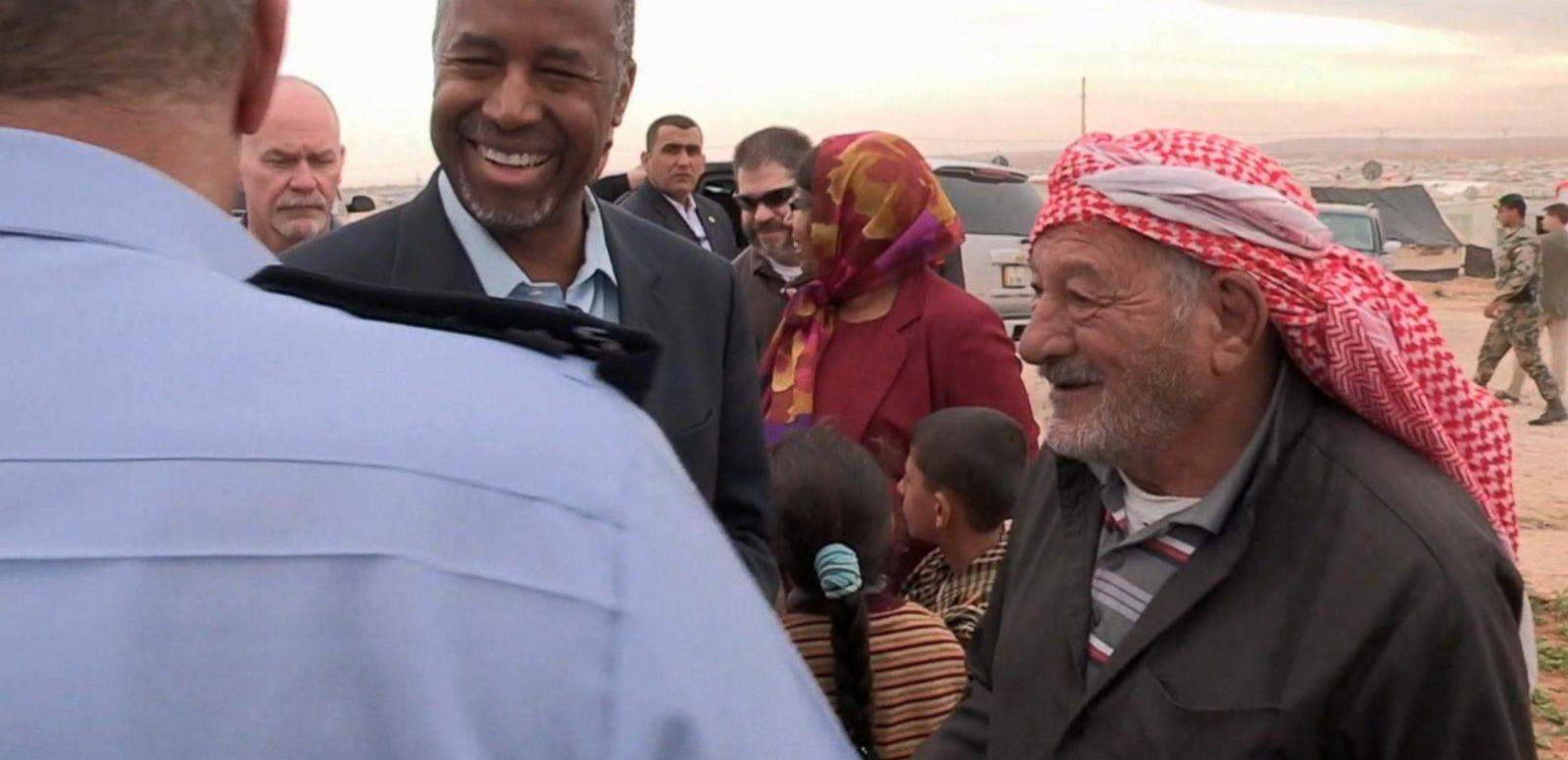 VIDEO: Republican Presidential Candidate Ben Carson Makes Surprise Trip to Jordan