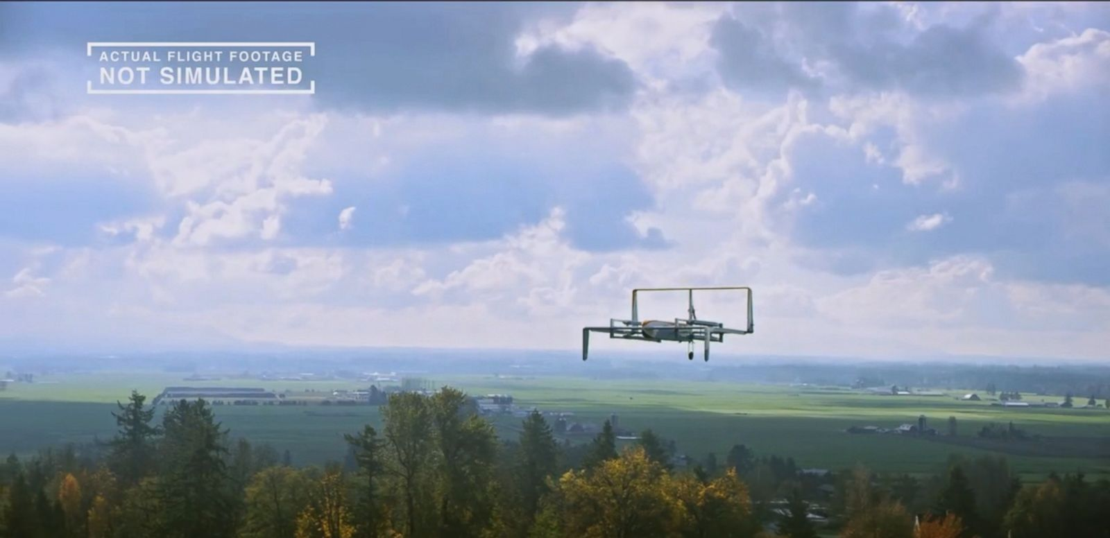 VIDEO: The retailer is moving ahead with its dream of making delivery drones as common as mail trucks.