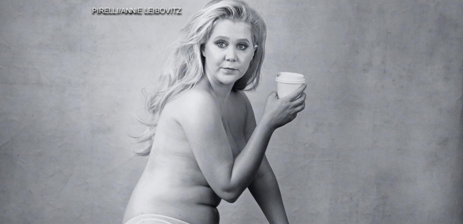 VIDEO: Amy Schumer Goes Semi-Nude for Calendar Shoot