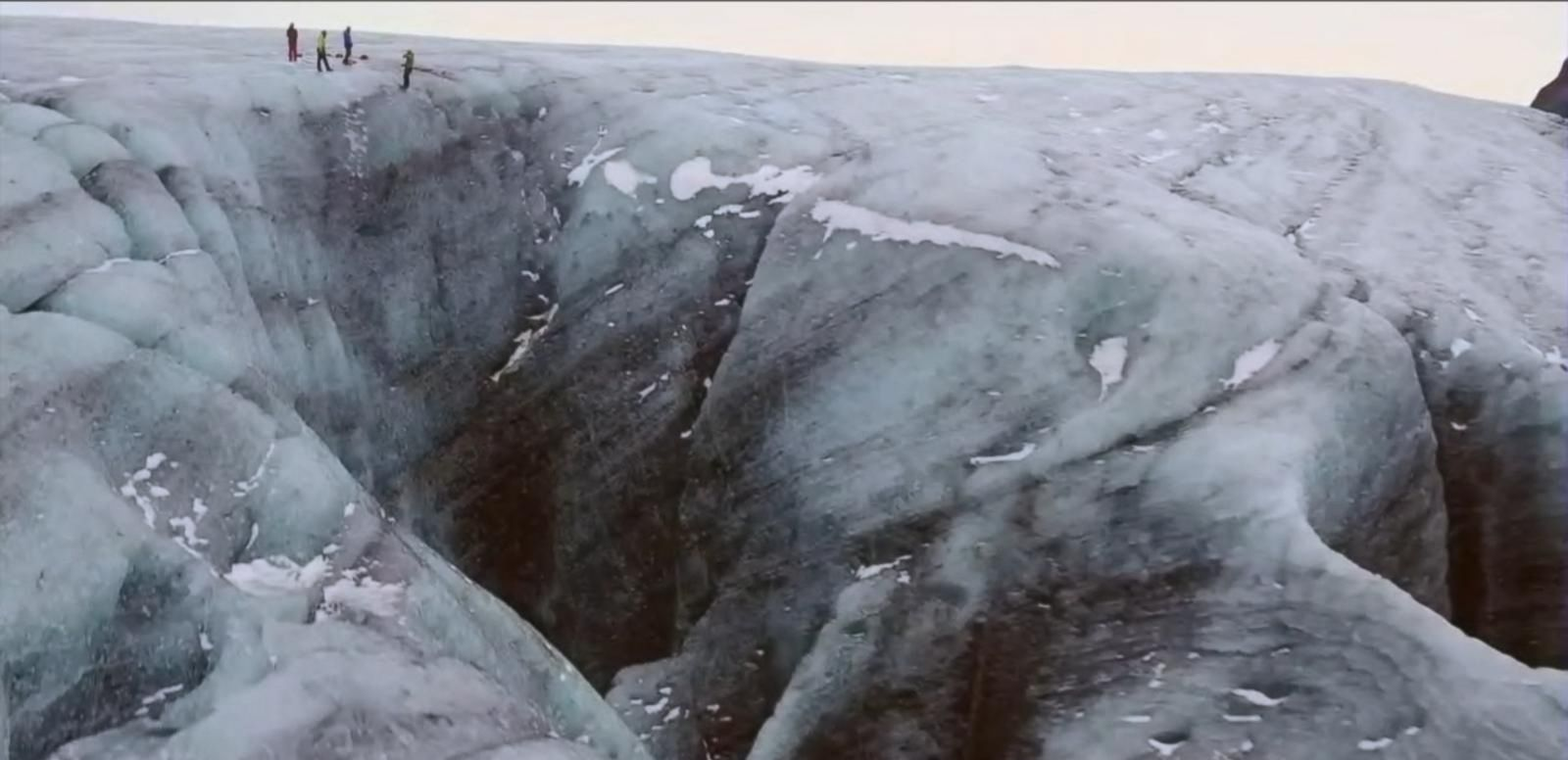 VIDEO: GMA Flies Drone Into Icelandic Sinkhole