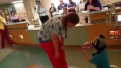 "VIDEO: Gideon Robinson, 5, asked his nurse Sarah to ""marry"" him on Jan. 27."