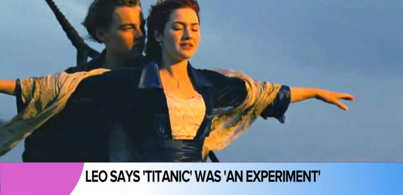 VIDEO: Leonardo DiCaprio Says 'Titanic' Was 'An Experiment'