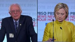 VIDEO: Hillary Clinton, Bernie Sanders Trade Jabs at Democratic Debate