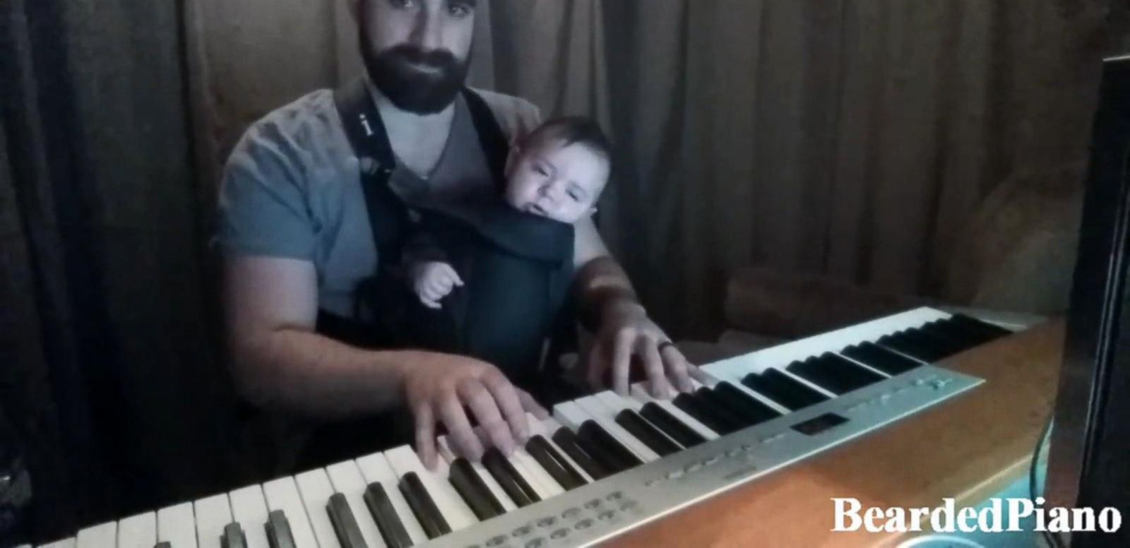 VIDEO: Dad's Piano-Playing Lullaby Soothes Baby Boy to Sleep
