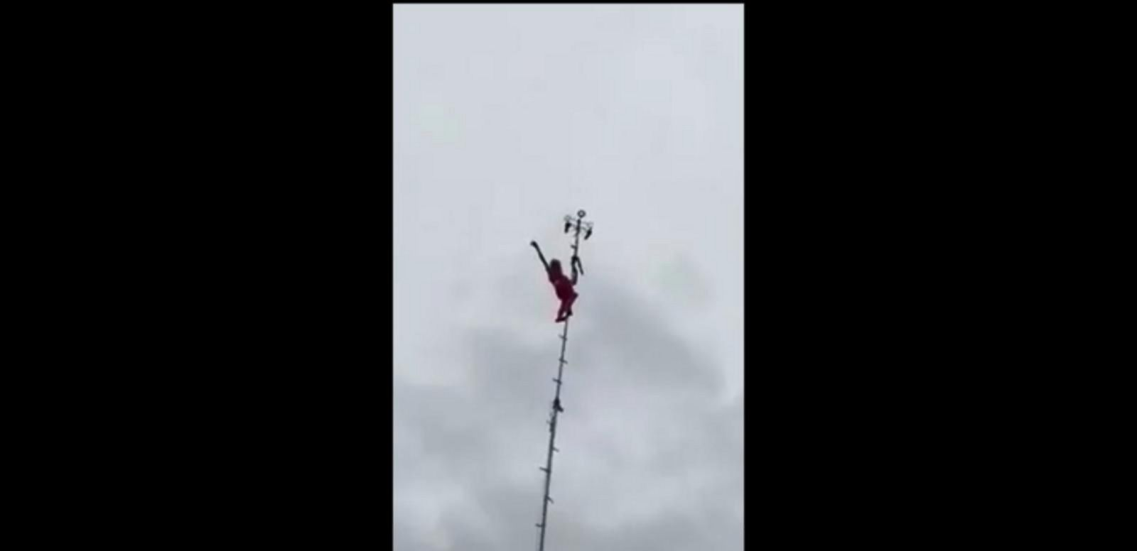 VIDEO: 80-Year-Old Dare Devil Grandma Hangs 100 Feet in the Air