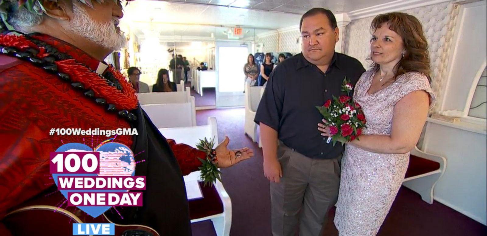 VIDEO: Hilarious Hawaiian Officiant Marries Lovebirds in Las Vegas' Little White Chapel