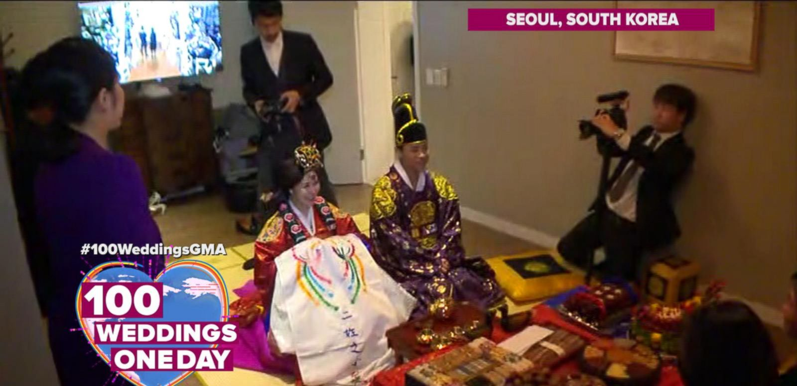 VIDEO: Beautiful South Korean Wedding Ceremony Features Many Family Traditions