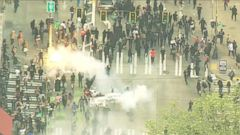 VIDEO: GMA 05/02/16: Riots, Protests Break Out in Seattle During May Day Marches