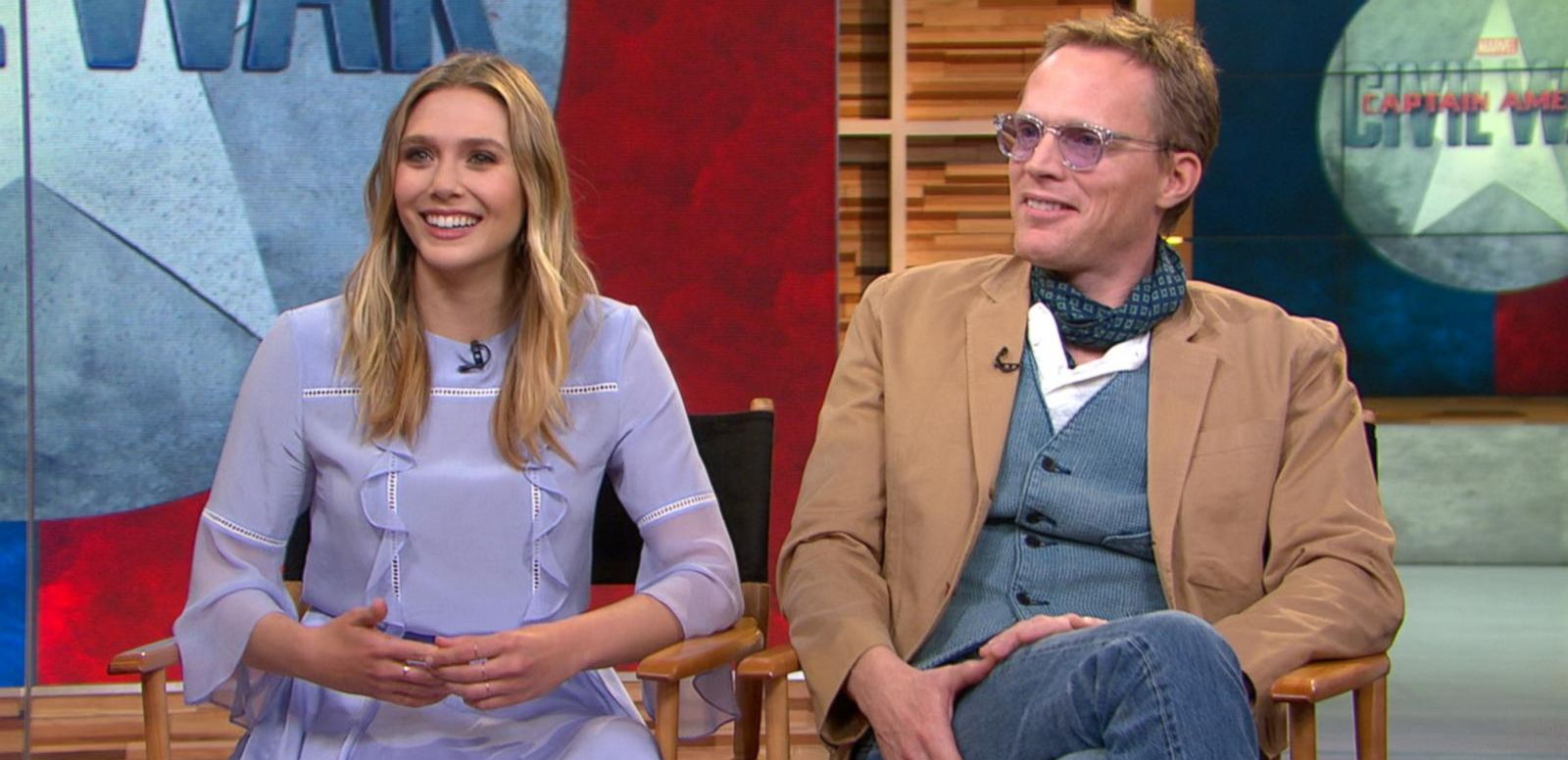 VIDEO: 'Captain America: Civil War': Elizabeth Olsen, Paul Bettany Visit 'GMA'