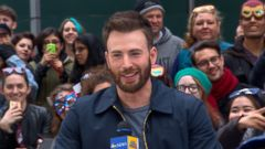 VIDEO: Captain America Star Chris Evans Visits GMA