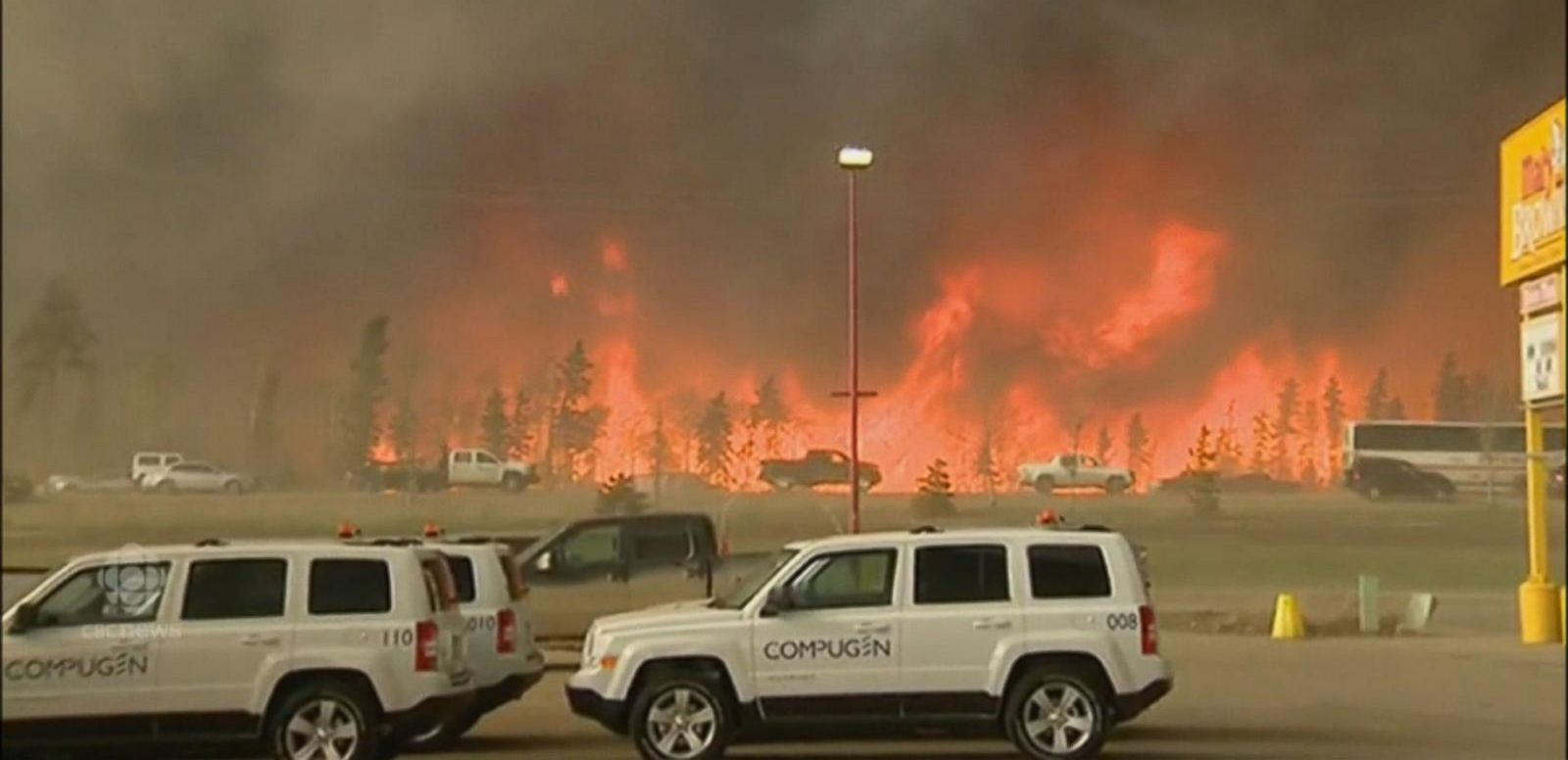 VIDEO: Massive Wildfire 10 Times the Size of Manhattan Continues Raging in Canada