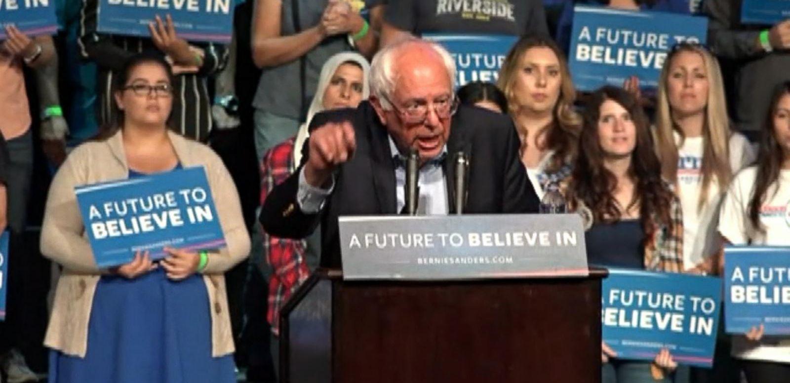 VIDEO: Bernie Sanders Battles Hillary Clinton in California