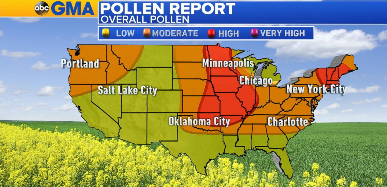 VIDEO: High Pollen From the Plains to the Northeast