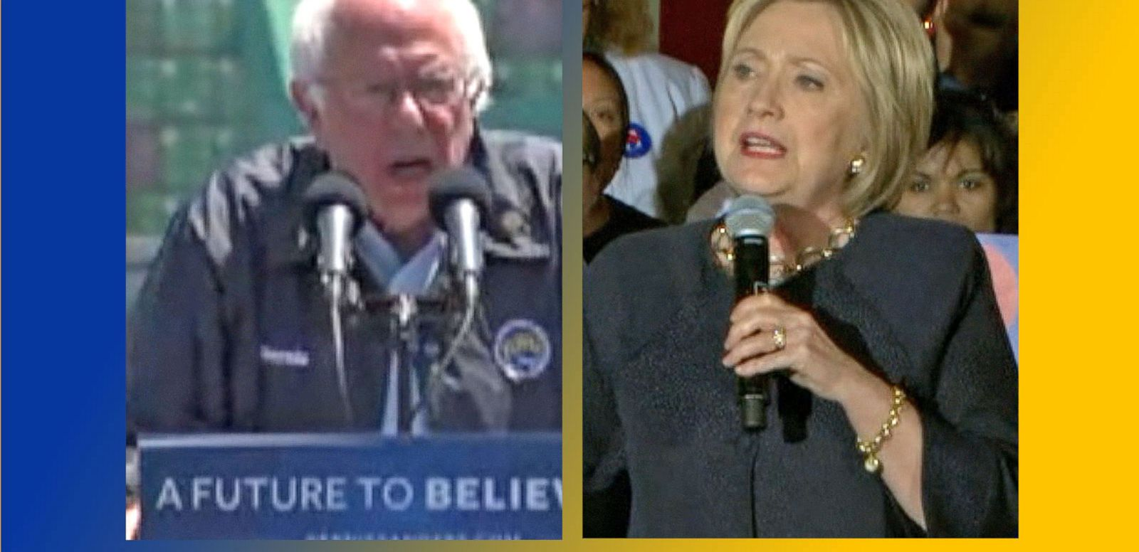 VIDEO: Hillary Clinton, Bernie Sanders Focus on California Primary Battle