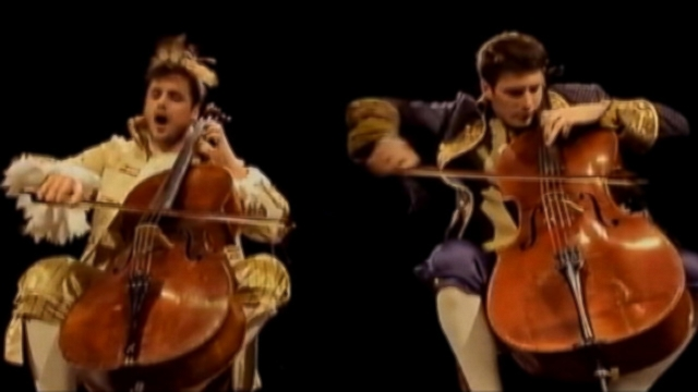 VIDEO: Croatian cellists 2CELLOS recreate popular music with their classical instruments.
