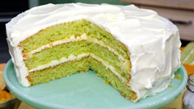 PHOTO:Key lime cake is shown.