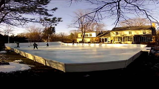 Man Builds Incredible Backyard Ice Rink