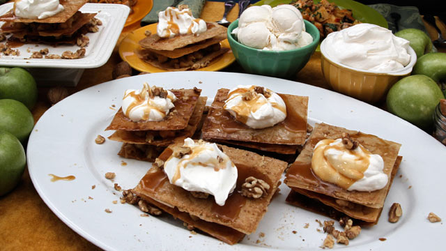 "PHOTO: Carla Hall's Apple Compote Napoleon on ""Good Morning America."""