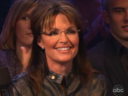 VIDEO: Sarah Palin appears on Dancing With the Stars to cheer on daughter Bristol.