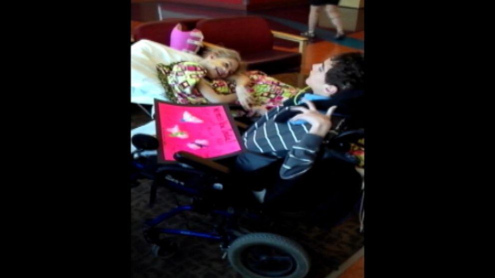 VIDEO: India Brainard, 15, received a surprise visit from her boyfriend Daniel on Thursday.
