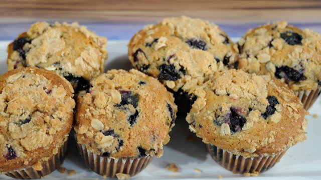 PHOTO: Daphne Oz's Browned Butter Whole Wheat Blueberry Muffins.