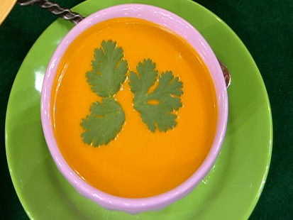 Diane Henderiks carrot-ginger soup is shown.