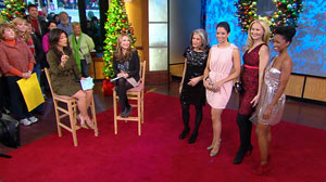 """PHOTO A style contributor with Lucky magazine, appeared on """"Good Morning America"""" to talk about finding great holiday dresses on a budget."""