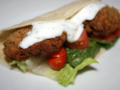 PHOTO:??Stephanie ODea prepared delicious falafel in her slow cooker.