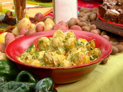Rick Bayless Roasted New Potato Salad With Poblano Mayo