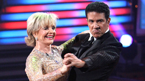 "PHOTO Florence Henderson and partner, Corky Ballas, perform on ""Dancing with the Stars,"" Oct. 18, 2010."