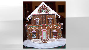 PHOTO Chef Toni Lynn Dickinson creates gingerbread houses