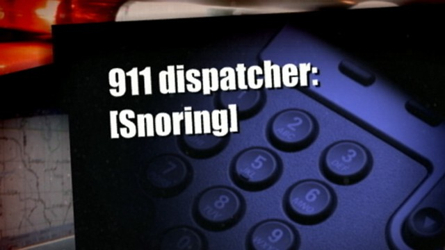 VIDEO: Woman hears the operator snoring when she called for help for her husband.
