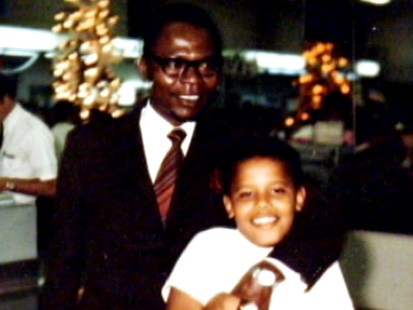 Barack Obama and his Father
