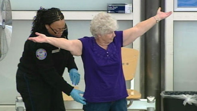 VIDEO: Passenger rights groups encourage fliers to opt-out of security body-scans.