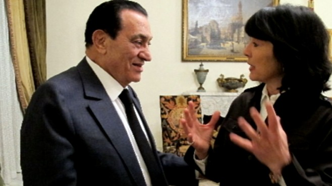 Christiane Amanpour recaps her interview with Egypts President Hosni Mubarak.