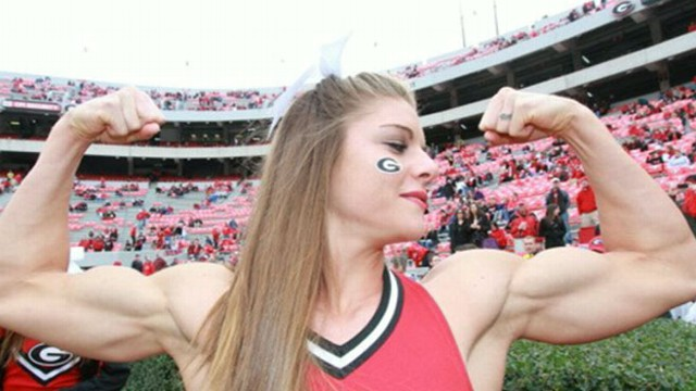 VIDEO: Young cheerleader talks about her quest to becoming a fitness model.