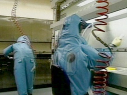 People in biohazard suits