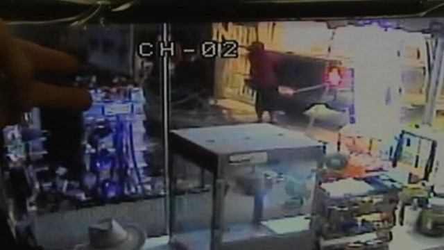 VIDEO: Police say three men broke into a Houston store and took the ATM with them.