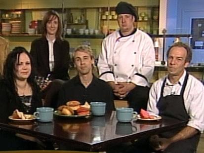 VIDEO: Volunteers help start restaurant under promise of paid work if business booms.