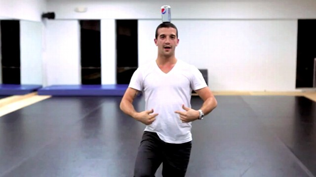 VIDEO: Mark Ballas performed an entire dance routine with a can of Pepsi on his head.